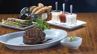 Dining table with filet
