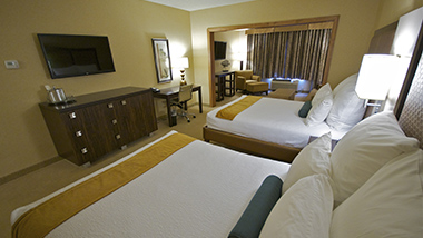 Inn at Charles Town Hotel Room Two beds room view